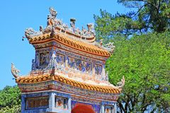 Hue Imperial Tomb of Tu Duc, Vietnam UNESCO World Heritage Site. The imperial tomb of Tu Duc is considered to be the most beautiful Imperial tomb of every Hue stock image