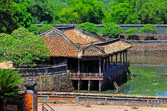 Hue Imperial Tomb of Tu Duc, Vietnam UNESCO World Heritage Site. The imperial tomb of Tu Duc is considered to be the most beautiful Imperial tomb of every Hue Stock Images
