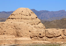 Imperial Tombs of Western Xia in Ningxia province of China Royalty Free Stock Photo