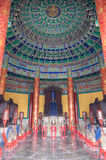 Imperial Vault of Heaven. In the Temple of Heaven. God and heaven is a place eight generations of ancestors of the emperor on the tablets of the place Stock Images