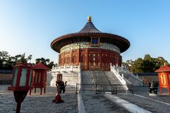 Imperial vault of Heaven In Temple of Heaven, Beijing, China stock image