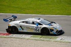 Imperiale die Lamborghini Gallardo Italiaans GT 2015 rennen in Monza stock foto's