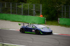 Imperiale Lamborghini de competência Gallardo GT3 em Monza Fotografia de Stock