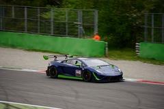 Imperiale Lamborghini que compite con Gallardo GT3 en Monza Fotografía de archivo