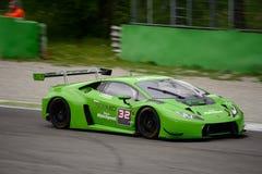 Imperiale que compite con el ¡n GT3 2016 de Lamborghini Huracà en Monza Imagen de archivo