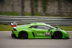 Imperiale que compite con el ¡n GT3 2016 de Lamborghini Huracà en Monza Foto de archivo libre de regalías
