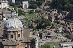 Imperiali del fori de Roma Imagen de archivo libre de regalías