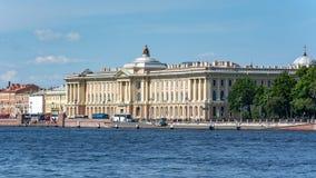 Imperialistisk akademi av konster som bygger i St Petersburg, Ryssland royaltyfri foto