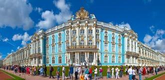 Imperialistisk Catherine slott på Tsarskoye Selo Arkivfoton