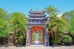 Imperialistisk gravvalv av Minh Mang Hue, Vietnam UNESCOvärldsarv Arkivfoto
