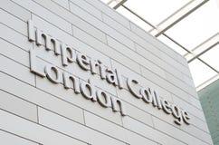 Imperialistisk högskolaLondon logo Arkivfoton