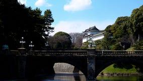 imperialistisk japan slott tokyo Arkivbild