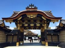 imperialistisk kyoto för port slott Royaltyfri Fotografi