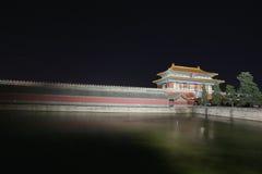 Imperialistisk natt för slott (som förbjudas staden) Arkivfoto