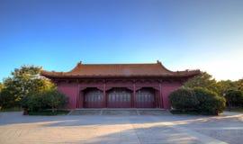 Imperialistisk slott av Ming Dynasty i Nanjing, Kina Arkivbilder