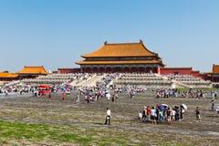 imperialistisk slott för beijing porslin Arkivfoto