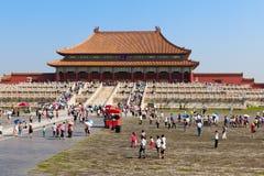 imperialistisk slott för beijing porslin Arkivbilder