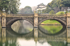 imperialistisk slott för broögonexponeringsglas arkivfoto