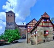 Imperialistisk slott i Nuremberg Royaltyfria Foton