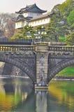 Imperialistisk slott Japan Arkivfoto