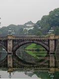 Imperialistisk slott Tokyo Japan för bro royaltyfria foton