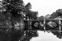Imperialistisk slottnyckel & bro, Tokyo, Japan royaltyfri fotografi