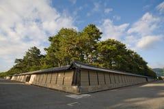 imperialistiska kyoto slottväggar arkivbild