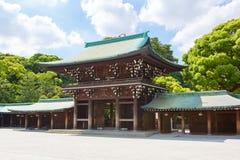 Imperialistiska Meiji Shrine i Shibuya, Tokyo, Japan Royaltyfri Fotografi
