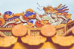 Imperialistiska Royal Palace av Nguyen dynasti i ton, Vietnam Tonen är royaltyfri foto