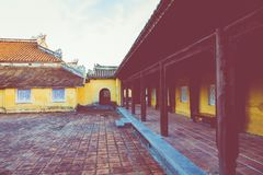 Imperialistiska Royal Palace av Nguyen dynasti i ton, Vietnam UNESCO fotografering för bildbyråer