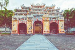 Imperialistiska Royal Palace av Nguyen dynasti i ton, Vietnam UNESCO arkivbilder