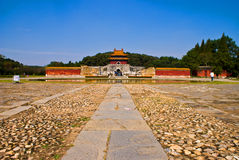 Imperialistiska tombs för kinesisk Ming dynasti i zhongxiang   royaltyfria foton
