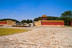 Imperialistiska tombs för kinesisk Ming dynasti i zhongxiang   arkivfoto