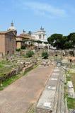 Imperialistiskt forum rome Italien Arkivfoto