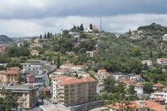 IMPERIO DE ITALIA - 14 DE JULIO DE 2014: La visión desde la vista panorámica Imagen de archivo