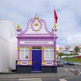 Imperio do Espirito Santo da Rua Nova, Angra, de Azoren stock foto