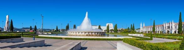 Imperio garden in Lisbon stock photography