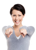 Imperious hands gesture Stock Photos