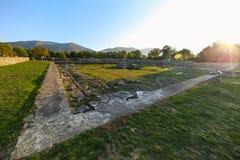 Imperium Rzymskie ruiny przy Colonia Ulpia Traiana Sarmizegetusa Obraz Royalty Free
