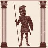 Imperium Rzymskie wojownik ilustracja wektor