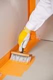Impermeabilizzazione applicata spazzola Fotografia Stock Libera da Diritti
