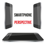 Impersonal Smartphone perspective realistic Royalty Free Stock Image