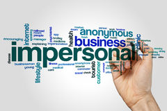 Impersonal word cloud Royalty Free Stock Images