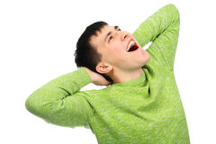 Impetuous happiness. Shot of a happy young man. Success, life events Royalty Free Stock Images