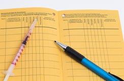 Impfbescheinigung Lizenzfreies Stockfoto