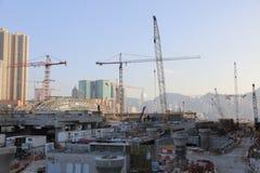 Impianti in costruzione di Hong Kong Immagine Stock Libera da Diritti