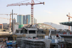 Impianti in costruzione di Hong Kong Immagini Stock Libere da Diritti