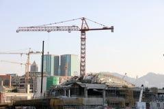 Impianti in costruzione di Hong Kong Fotografie Stock Libere da Diritti