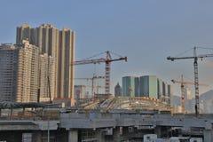Impianti in costruzione di Hong Kong Immagini Stock