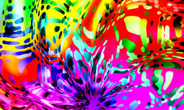 impianti creativi di fondo astratto colorato Multi Fotografia Stock Libera da Diritti